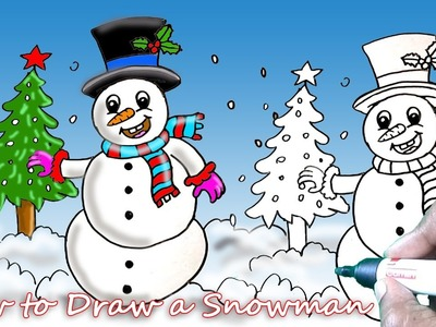 How to Draw a Snowmen Simple Drawing Tutorial for Beginners