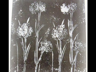 How to make a black and white mixed media art canvas