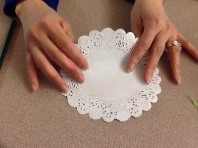 How To Make A Doily Christmas Tree Card
