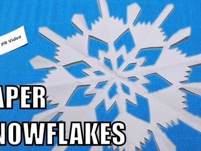 How to make paper snowflakes - Easy Origami ✅