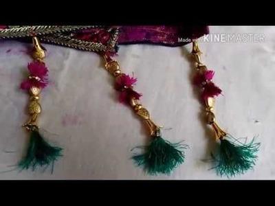How to make Saree kucchu.tassels desing using silk thread with beads