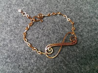 Infinity bracelet - How to make wire jewelery 152