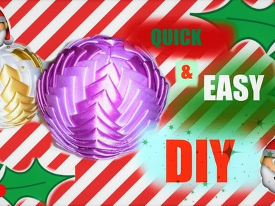 LAST MINUTE CHRISTMAS BAUBLE DIY
