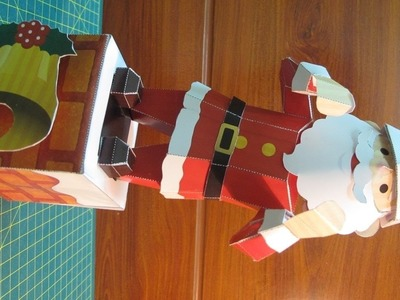 Making paper santa clause can dance – christmas crafts – paper crafts