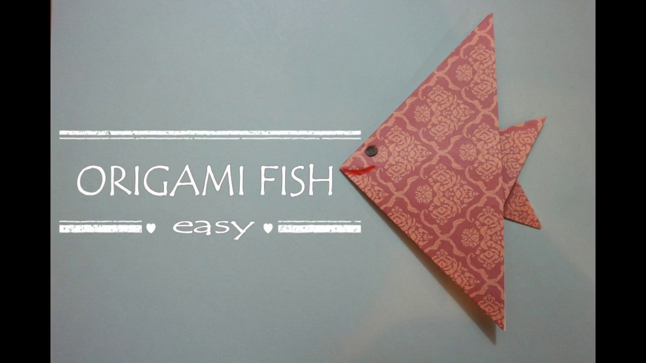 Origami fish easy - how to make an origami fish - easy paper fish tutorial for beginners