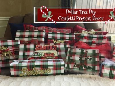 PLAID WEEK DAY 5 | DOLLAR TREE DIY: Confetti Present & More! | 2016