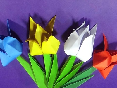 Tulip - How To Make Origami Tulip Flowers With Paper |