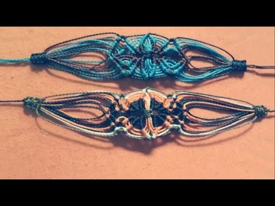 Tutorial macrame bracelet flower(How to make)