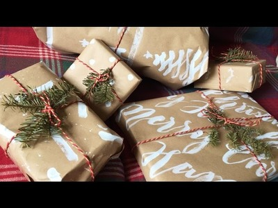 Watch Me DIY Christmas Wrapping Paper