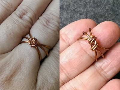 Wire ring - How to make wire jewelery 154