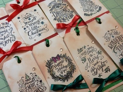 12 Days of Christmas Tags 2016 | Day 6 of 12 | Tim Holtz Mini Doodle Greetings