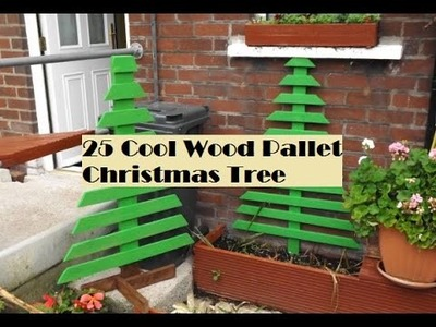 25 Cool Wood Pallet Christmas Tree