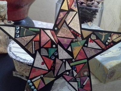 Art du Jour December 24 Christmas Eve Mosaic Star