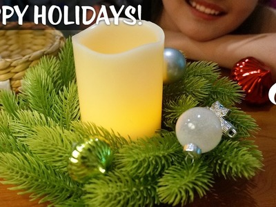 ASMR by the Fireplace | Christmas-Themed Trigger Assortment 2016 (+ fire crackling sounds)