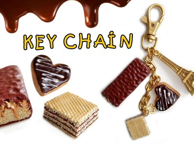 Chocolate, Wafer, Biscuit Key Chain | Polymer Clay Food Jewelry Tutorial