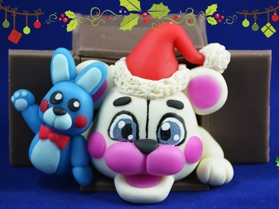 ★ CHRISTMAS FUNTIME FREDDY ★ ✔ Polymer Clay ✔ Cold Porcelain COLLAB ft Moxxka & Plastilina Loca