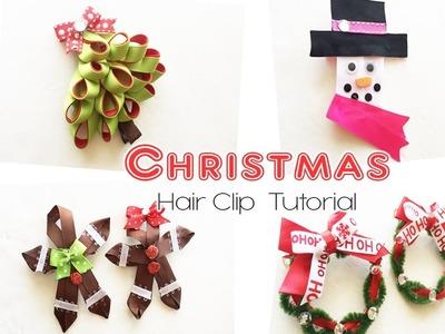 Christmas Hair Clip Tutorial, Bow Tutorial, Ribbons -The290ss