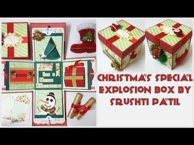 Christmas Special Explosion box by Srushti Patil