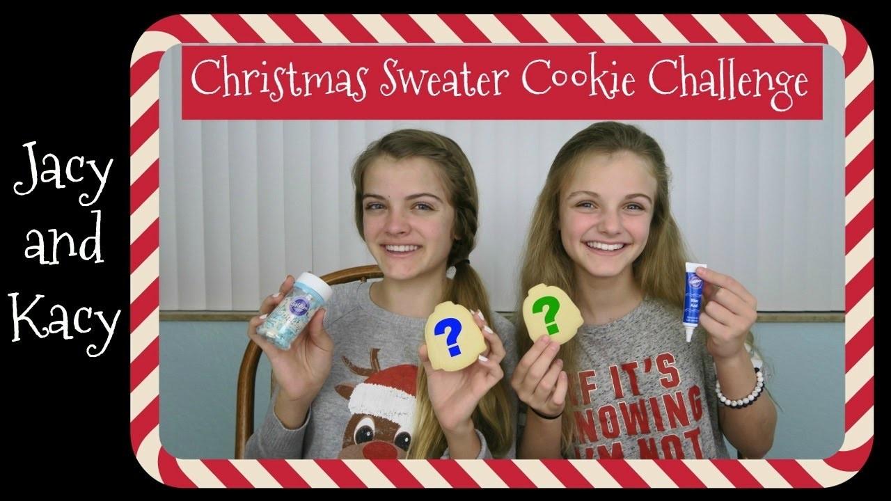 Christmas Sweater Cookie Challenge ~ Jacy and Kacy
