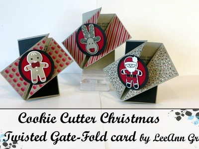 Cookie Cutter Christmas Twisted Fold Card