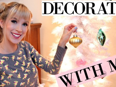 DECORATE WITH ME! | 47 Ornament Wall + 2 CHRISTMAS Trees
