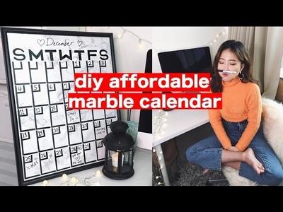 DIY Affordable Marble Calendar (+short skit