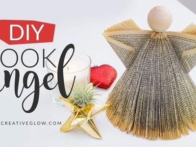 DIY Book Angel. Under $5 Christmas Decor