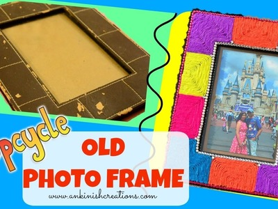 DIY Easy photo frame decoration idea using Yarn!! Upcycle, Best out of waste!!