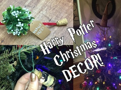 DIY Harry Potter Christmas Decorations | Ornaments, Sorting Hat Tree Topper, + Mistletoe!