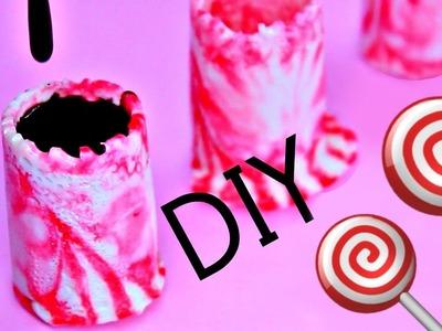DIY Peppermint Shot Glasses + DIY Peppermint Lollipops
