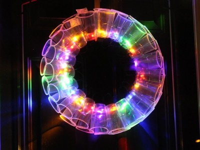 DIY PLASTIC CUP LED WREATH  | FUN CHRISTMAS PROJECTS