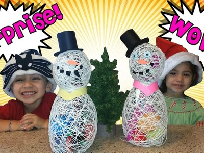 DIY Snowman full of Fun Toy Surprises My littlee Pony Minions Surprise Eggs Fun for Kids