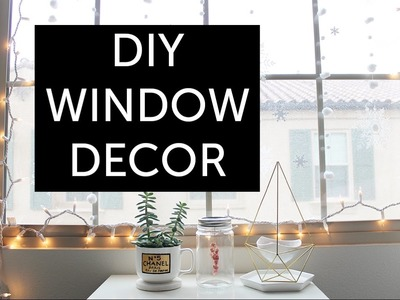 DIY Tumblr Room Decor: Winter Window Decoration
