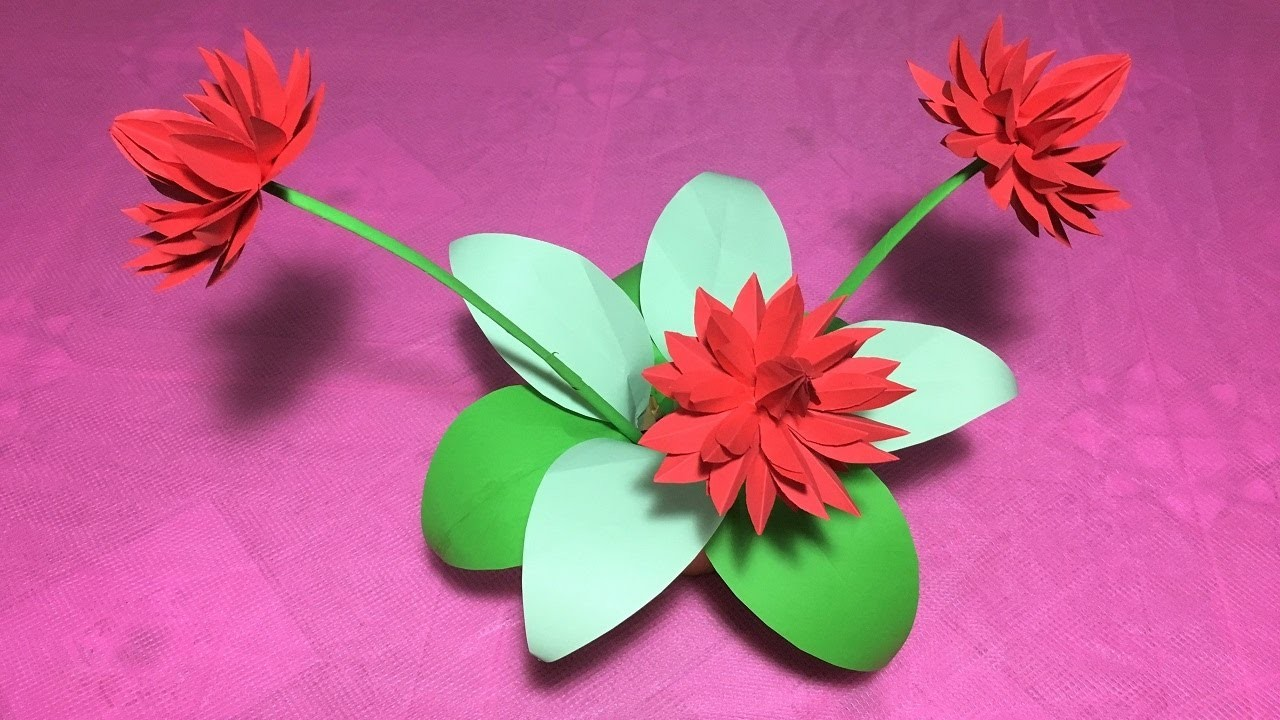 how to make origami lily flowerdiy origami flower lily