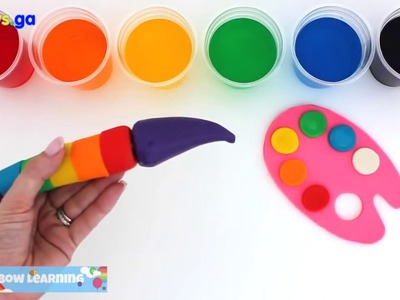 Kids Toys GA - Learn Rainbow Colors with Play Doh Paint Palette * Creative DIY Fun for Kids *