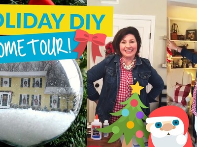 Make A Personalized Christmas Ornament! & HOLIDAY HOME TOUR!