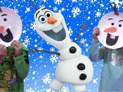 Making Paper Disney Frozen Olaf Easy Fun Kids Actvity Arts Craft