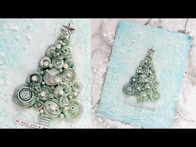 Mixed Medium: Christmas Tree with Shari Carroll