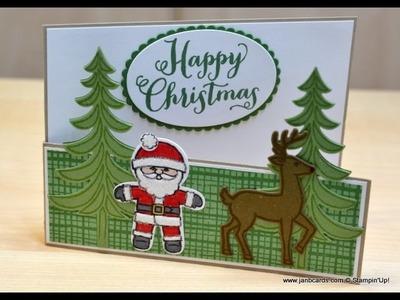 No.238 Stable Door Christmas Card - JanB UK Stampin' Up! Demonstrator Independent