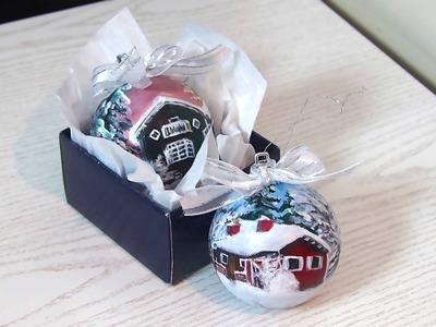 Painting Christmas ornaments | Christmas gift idea