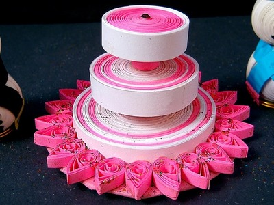 Paper Quilling Designs - Christmas Cake By Paper Quilling @ ekunji.com