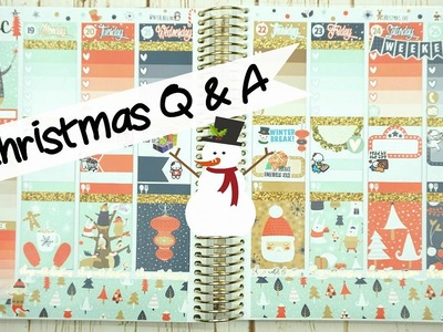 Plan with Me: Christmas Q&A. ft. Scribble Prints Co. Erin Condren