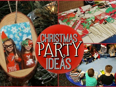 SCHOOL CHRISTMAS PARTY IDEAS | DIY KEEPSAKE ORNAMENT | PHOTO BOOTH