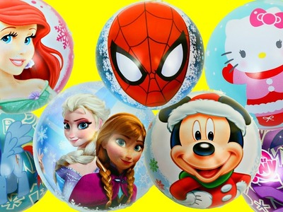 SURPRISE CHRISTMAS ORNAMENTS Toy Surprises Frozen My Little Pony Spiderman Hello Kitty Mickey Mouse