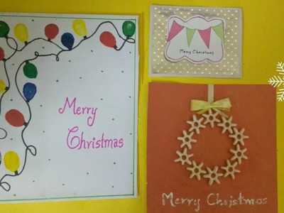 Three Amazing Christmas Greeting Cards You Would Love to Make