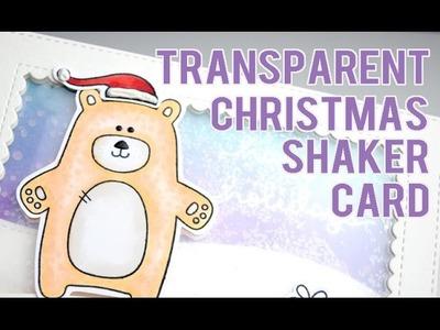 Transparent Shaker Christmas Card ft. Simon Says Stamp Bear Necessities