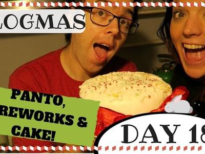 VLOGMAS 2016 DAY 18 | PANTO, FIREWORKS AND DIY CAKE DECORATING  | CHRISTMAS WITH KRISPYSMORE