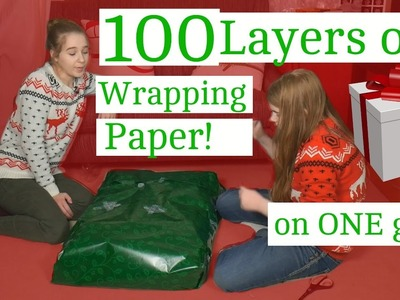 100 Layers of Wrapping Paper on ONE Gift! 19.24 Days of Christmas