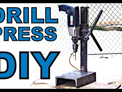 #16 Homemade steel DRILL PRESS stand (diy)