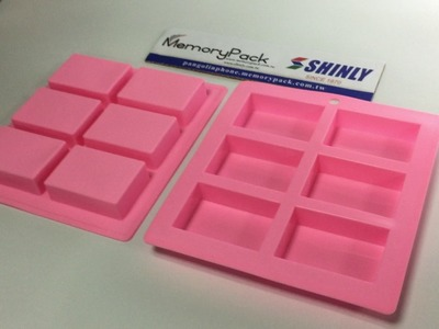 6-cavity rectangular soap silicone molds soap making supply diy CCM-033